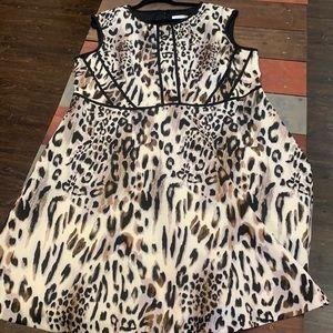 3 FOR $20 Studio One Animal Print Dress 22W